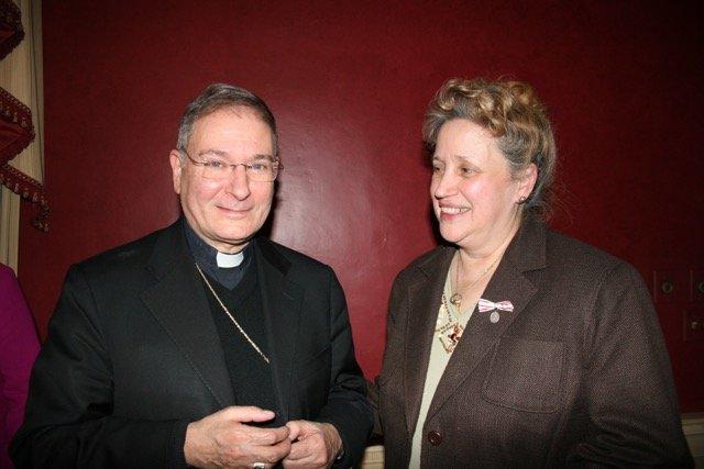Biship Seratelli meeting Kathy