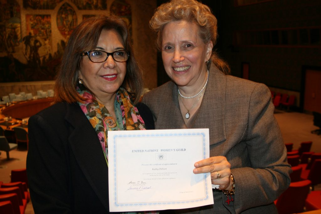 Certificate for Kathy DiFiore at Genoveva