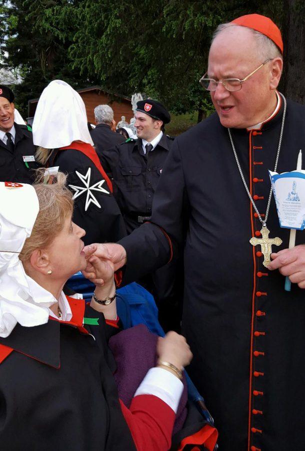 Kathy with Cardinal Dolan