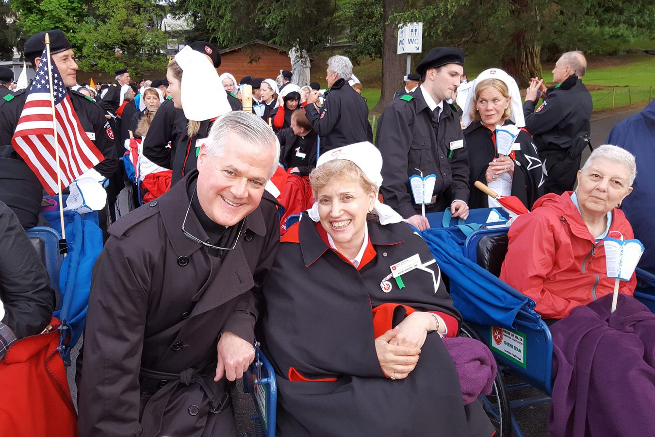 Kathy with Father Gerry