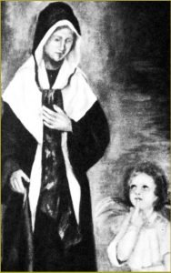 FIRST APPARITION – ST. CATHERINE IS AWAKENED BY AN ANGEL