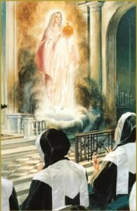 SECOND APPARITION: OUR LADY WITH THE GLOBE