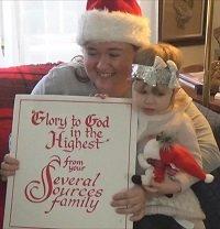 Jennifer and Sofia Living Christmas Card